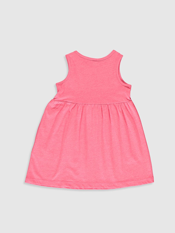 %50 Pamuk %50 Polyester Standart Baskılı Günlük Elbise Süprem Kız Bebek Baskılı Elbise