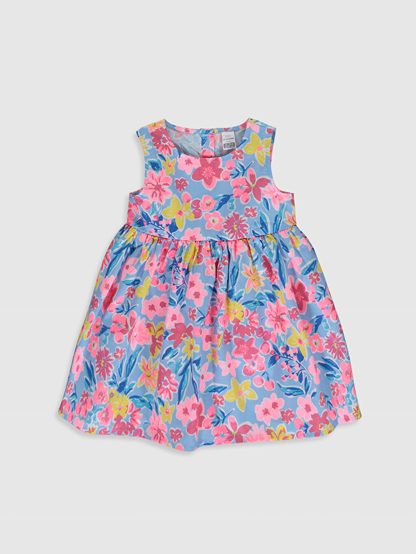 Mavi Kız Bebek Poplin Elbise 0S2586Z1 LC Waikiki