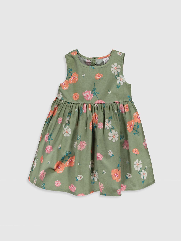 Yeşil Kız Bebek Poplin Elbise 0S2586Z1 LC Waikiki