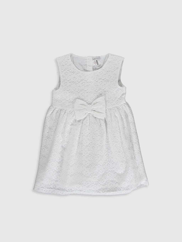 Beyaz Kız Bebek Dantelli Elbise 0S2587Z1 LC Waikiki