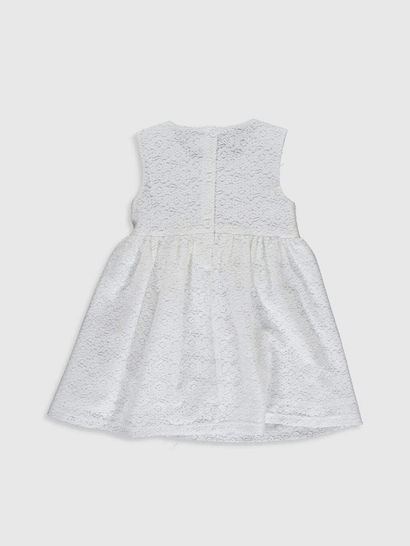 %66 Pamuk %34 Polyester %100 Pamuk Baskılı Kız Bebek Dantelli Elbise