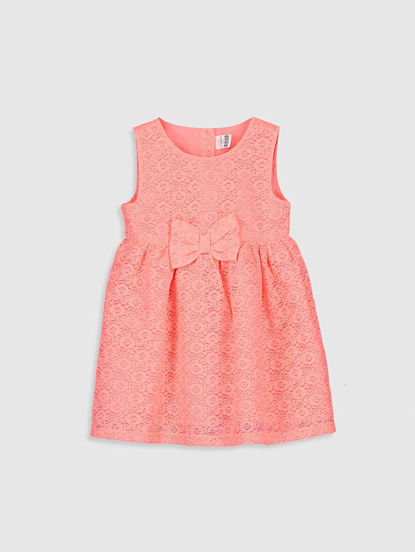 Pembe Kız Bebek Dantelli Elbise 0S2587Z1 LC Waikiki