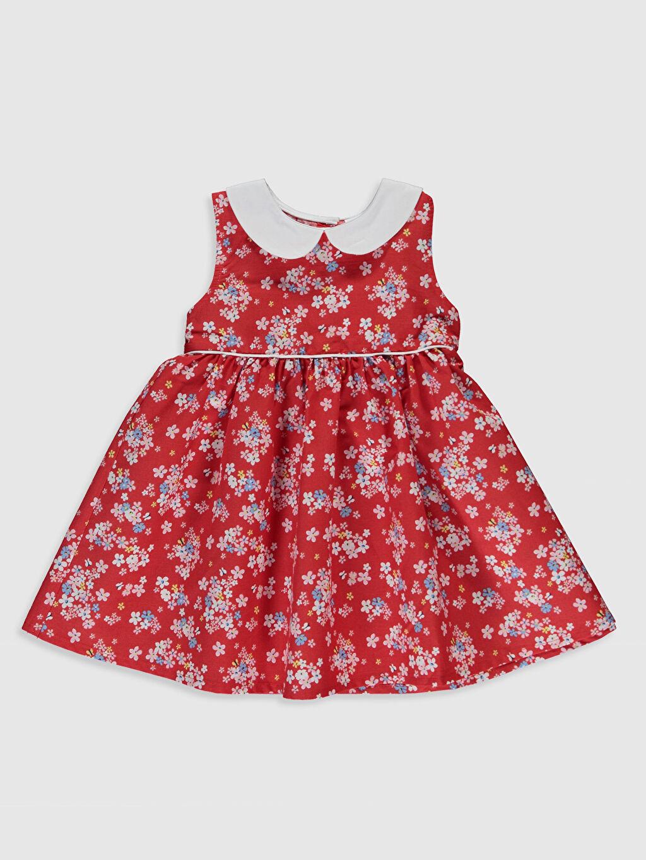 Kırmızı Kız Bebek Desenli Elbise 0S2589Z1 LC Waikiki