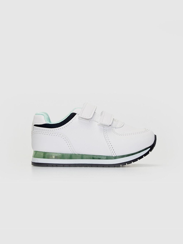 Beyaz Erkek Bebek Cırt Cırtlı Günlük Spor Ayakkabı 0S2675Z1 LC Waikiki
