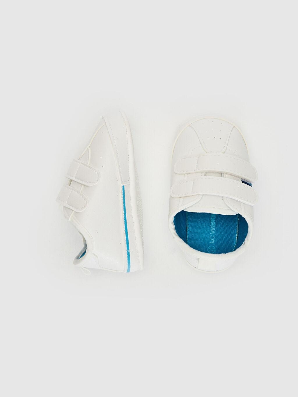 Diğer malzeme (poliüretan)  %0 Tekstil malzemeleri (%100 pamuk)  Erkek Bebek Cırt Cırtlı Yürüme Öncesi Ayakkabı