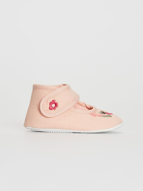 Pembe Kız Bebek Pamuk Astarlı Yürüme Öncesi Ayakkabı 0S3045Z1 LC Waikiki