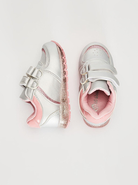 %0 Diğer malzeme (poliüretan)  Kız Bebek Işıklı Günlük Ayakkabı