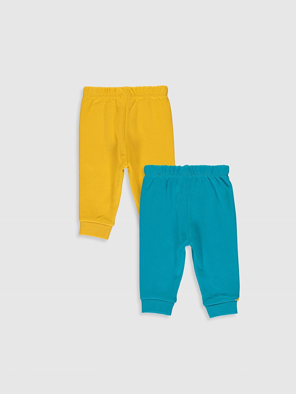 %100 Pamuk %100 Pamuk Standart Pijama Alt İnterlok Erkek Bebek Pijama Alt 2'li