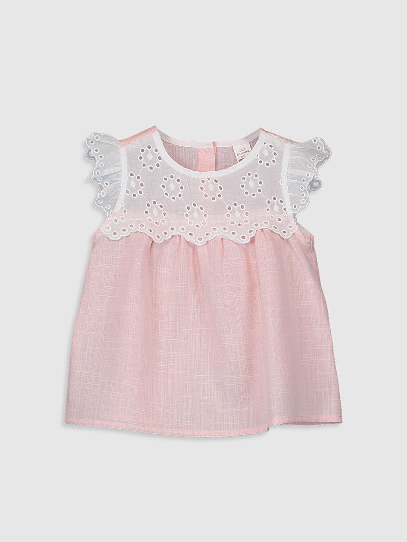 Pembe Kız Bebek Poplin Bluz 0S3626Z1 LC Waikiki