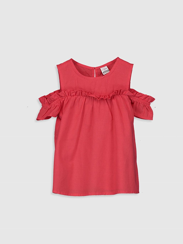 Kırmızı Kız Bebek Basic Poplin Bluz 0S3627Z1 LC Waikiki
