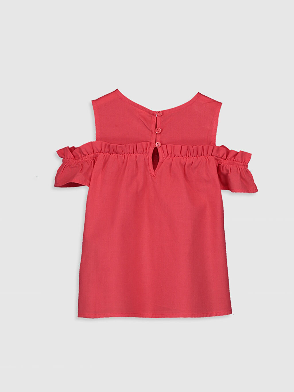 %100 Pamuk Standart Düz Kolsuz Bluz Kız Bebek Basic Poplin Bluz