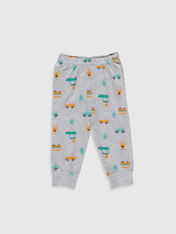 LC Waikiki Beyaz Erkek Bebek Desenli Pijama Takımı 3'lü
