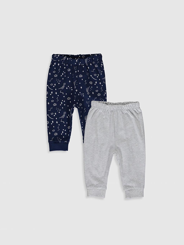 Lacivert Erkek Bebek Pijama Alt 2'li  0S4937Z1 LC Waikiki