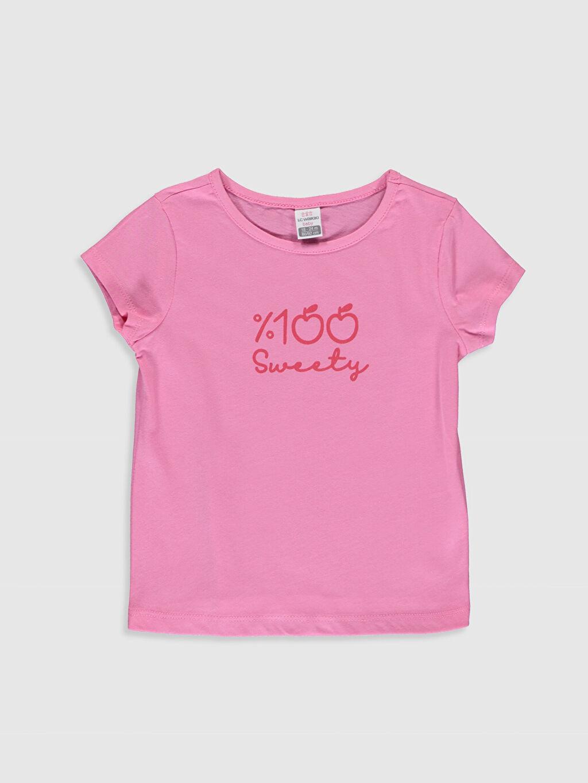 Pembe Kız Bebek Baskılı Pamuklu Tişört  0S5256Z1 LC Waikiki