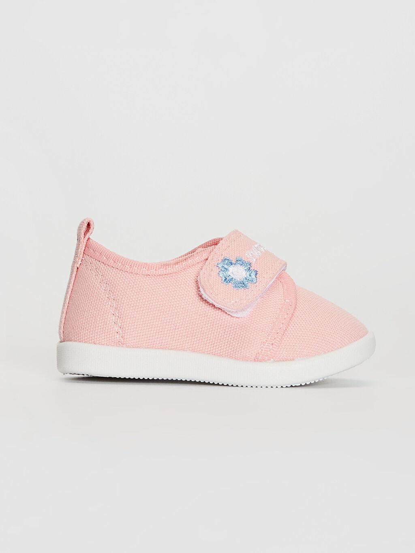 Pembe Kız Bebek Cırt Cırtlı Yürüme Öncesi Ayakkabı 0S5354Z1 LC Waikiki