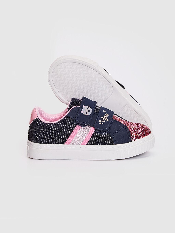 Kız Bebek Kız Bebek Pul Payetli Bez Sneaker Ayakkabı