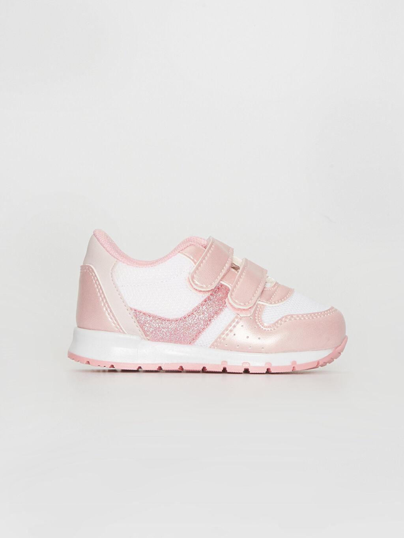 Pembe Kız Bebek Cırt Cırtlı Günlük Spor Ayakkabı 0S5360Z1 LC Waikiki
