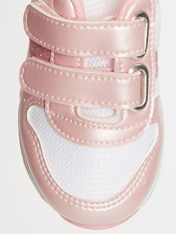 LC Waikiki Pembe Kız Bebek Cırt Cırtlı Günlük Spor Ayakkabı