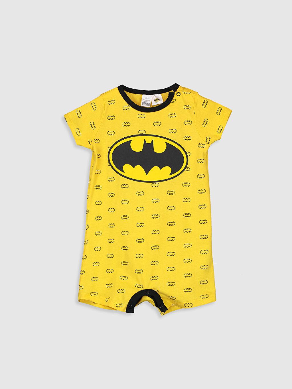 Sarı Erkek Bebek Batman Baskılı Tulum 0S5928Z1 LC Waikiki