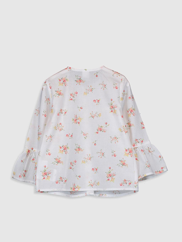 %100 Pamuk Standart Baskılı Uzun Kol Bluz Kız Bebek Baskılı Bluz