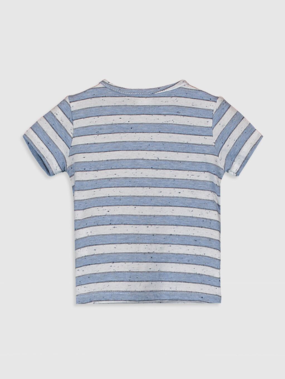 %87 Pamuk %13 Polyester  Erkek Bebek Çizgili Pamuklu Tişört