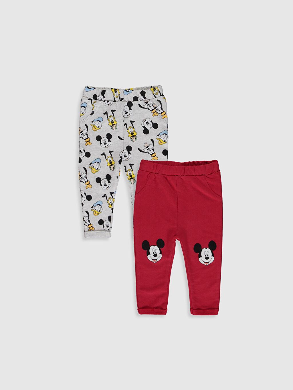 Kırmızı Erkek Bebek Mickey Mouse Baskılı Tayt 2'li 0S6508Z1 LC Waikiki