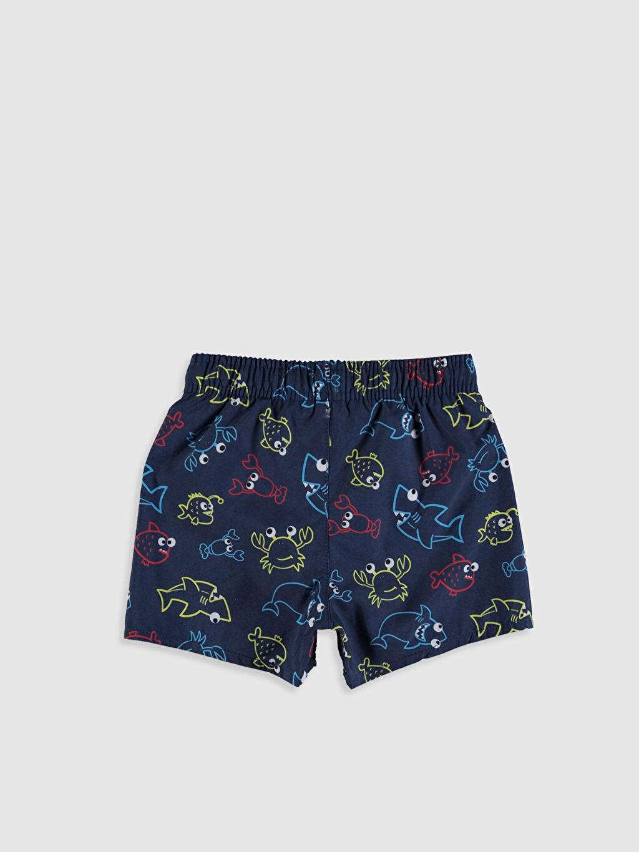 %100 Polyester %100 Polyester Standart Baskılı Boxer Yüzme Şort İnce Erkek Bebek Desenli Mayo