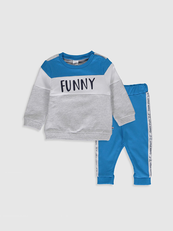 Mavi Erkek Bebek Sweatshirt ve Pantolon 0S6546Z1 LC Waikiki