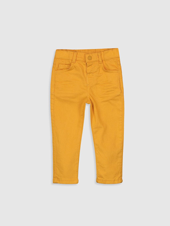 %98 Pamuk %2 Elastan Beş Cep Skinny Pantolon Gabardin Aksesuarsız Astarsız %100 Pamuk Düz Erkek Bebek Gabardin Pantolon