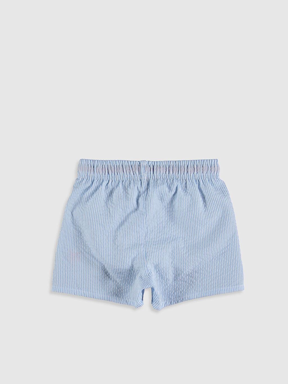 %100 Polyester %100 Polyester Boxer Standart Yüzme Şort Çizgili Erkek Bebek Yüzme Şort