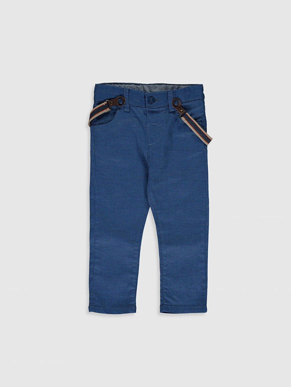 %79 Polyester %21 ELASTODİEN %98 Pamuk %2 Elastan Beş Cep Pantolon Askı Gabardin Baskılı Astarsız Dar %100 Pamuk Erkek Bebek Gabardin Pantolon ve Pantolon Askısı