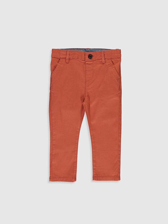 Turuncu Erkek Bebek Slim Fıt Gabardin Pantolon 0S6775Z1 LC Waikiki