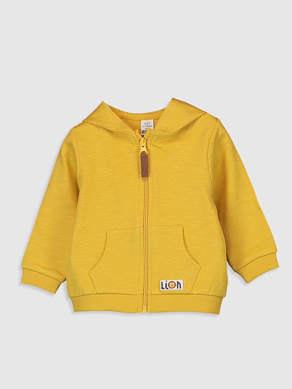 Sarı Erkek Bebek Kapüşonlu Fermuarlı Sweatshirt 0S6842Z1 LC Waikiki