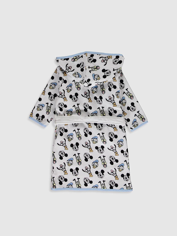 %100 Pamuk Havlu Kumaş Bebek Bornoz Astarsız Erkek Bebek Disney Baskılı Kapüşonlu Bornoz
