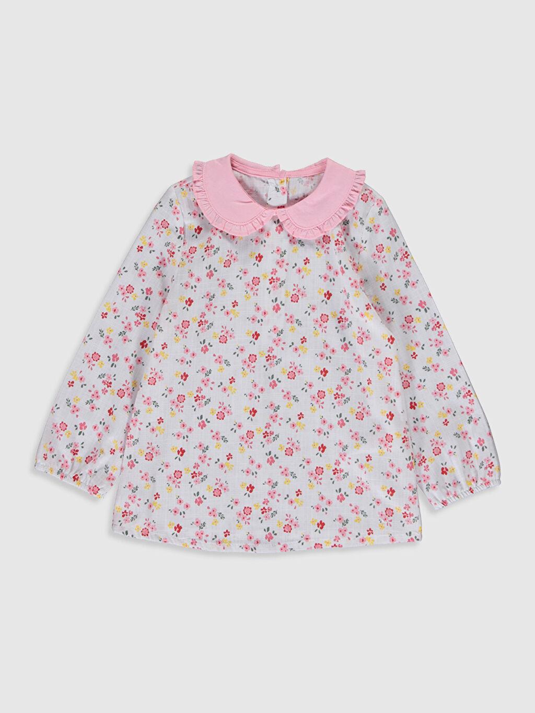 Ekru Kız Bebek Çiçek Baskılı Bluz 0S7102Z1 LC Waikiki