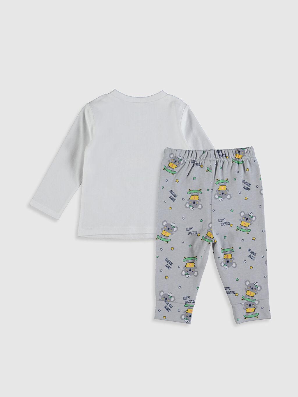 %100 Pamuk %100 Pamuk İnce Uzun Kol Süprem Standart Pijama Takım %100 Pamuk Erkek Bebek Baskılı Pamuklu Pijama Takımı