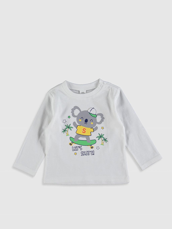 Erkek Bebek Erkek Bebek Baskılı Pamuklu Pijama Takımı