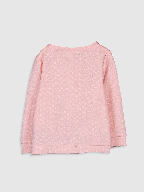 %69 Pamuk %31 Polyester Sweatshirt Uzun Kol Kız Bebek Kapüşonlu Sweatshirt