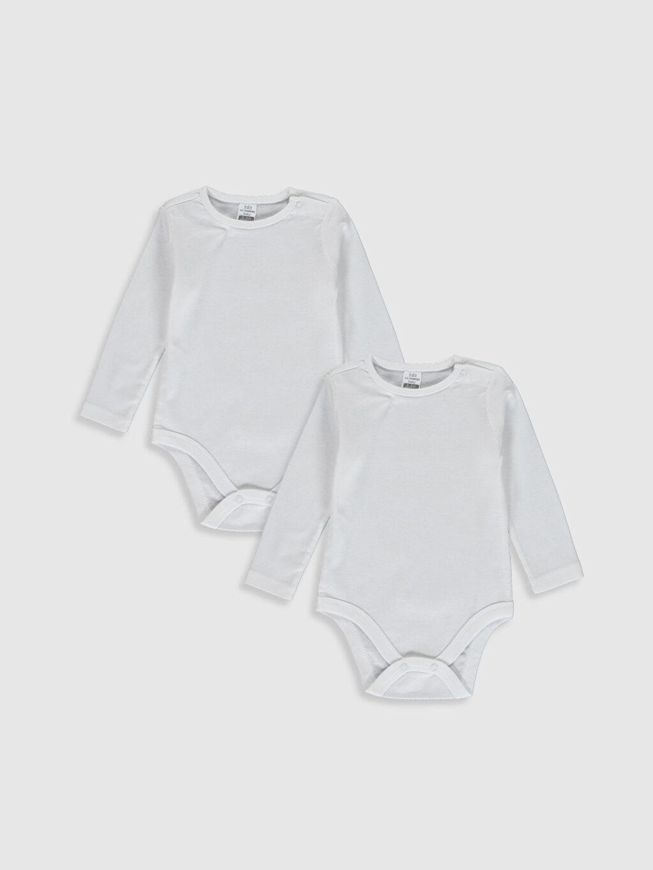 Beyaz Kız Bebek Pamuklu Çıtçıtlı Body 2'li 0S8400Z1 LC Waikiki