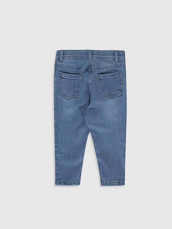 %90 Pamuk %8 Polyester %2 Elastan Standart Normal Bel Kız Bebek Jean Pantolon