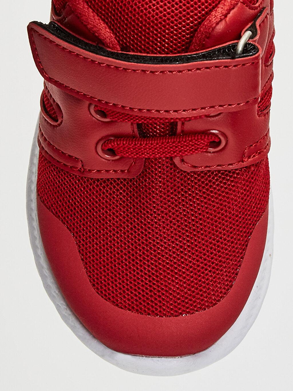LC Waikiki Kırmızı Erkek Bebek Cırt Cırtlı Günlük Spor Ayakkabı