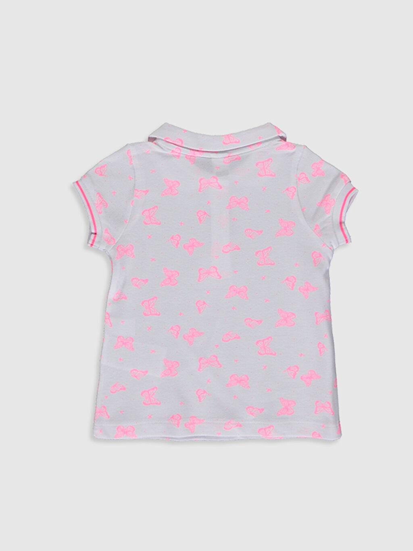 %100 Pamuk Diğer Aksesuarsız Standart Baskılı Tişört Kısa Kol Kız Bebek Desenli Pamuklu Tişört