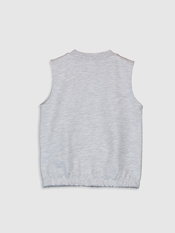 %68 Pamuk %32 Polyester A Kesim Yelek Orta Kalınlık Kolsuz Kız Bebek Fermuarlı Yelek