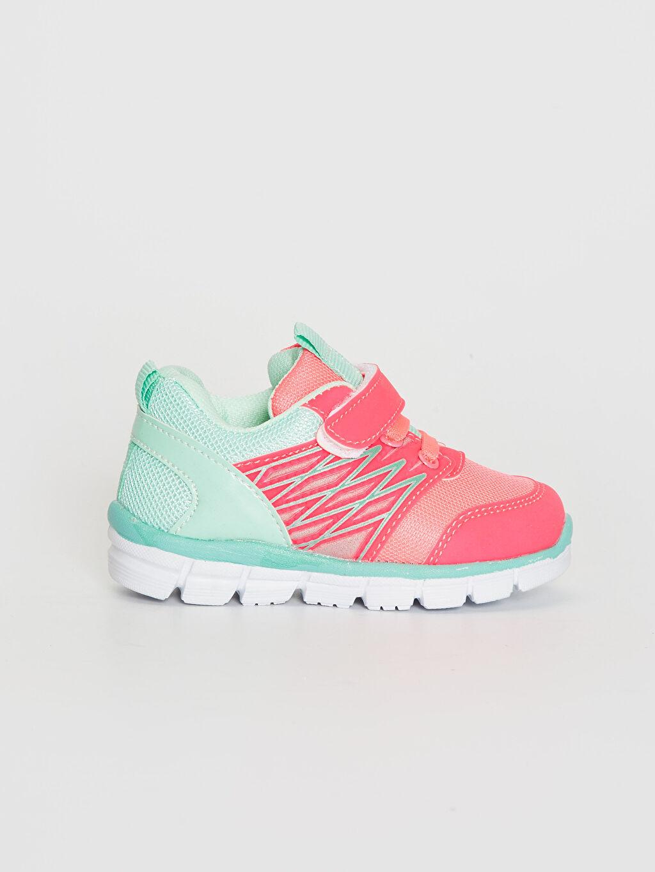 Fuşya Kız Bebek Cırt Cırtlı Aktif Spor Ayakkabı 0S8684Z1 LC Waikiki