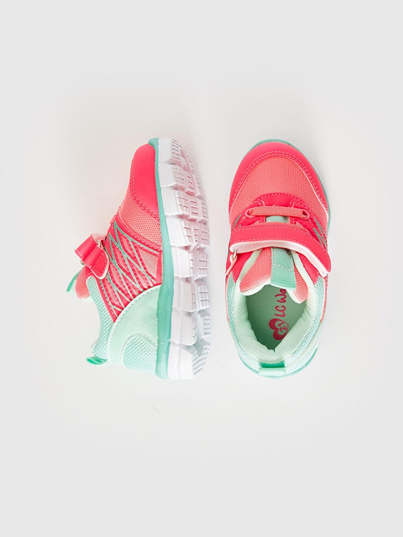 %0 Diğer malzeme (poliüretan) %0 Tekstil malzemeleri (%100 poliester) Sneaker Bağcık ve Cırt Cırt Işıksız Polyester Astar Kız Bebek Cırt Cırtlı Aktif Spor Ayakkabı