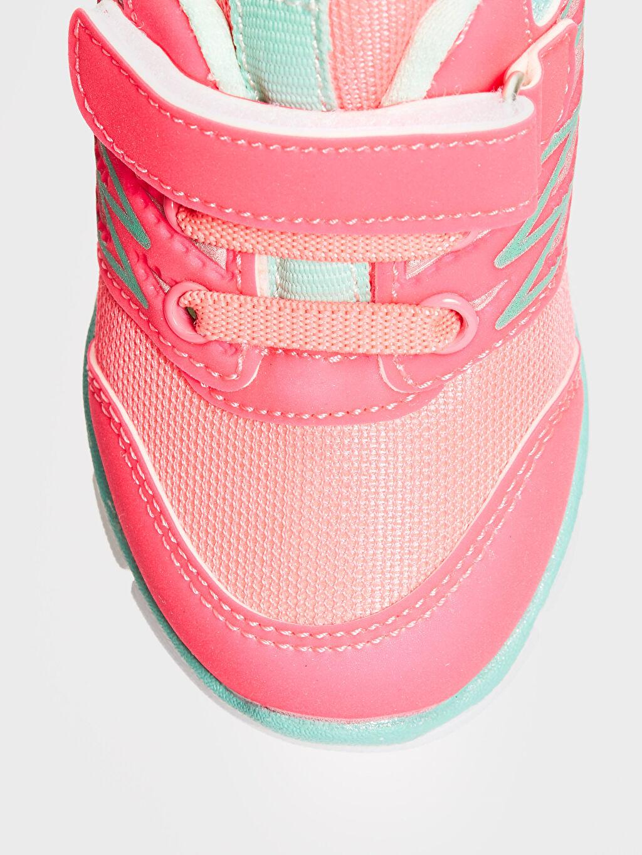 LC Waikiki Fuşya Kız Bebek Cırt Cırtlı Aktif Spor Ayakkabı