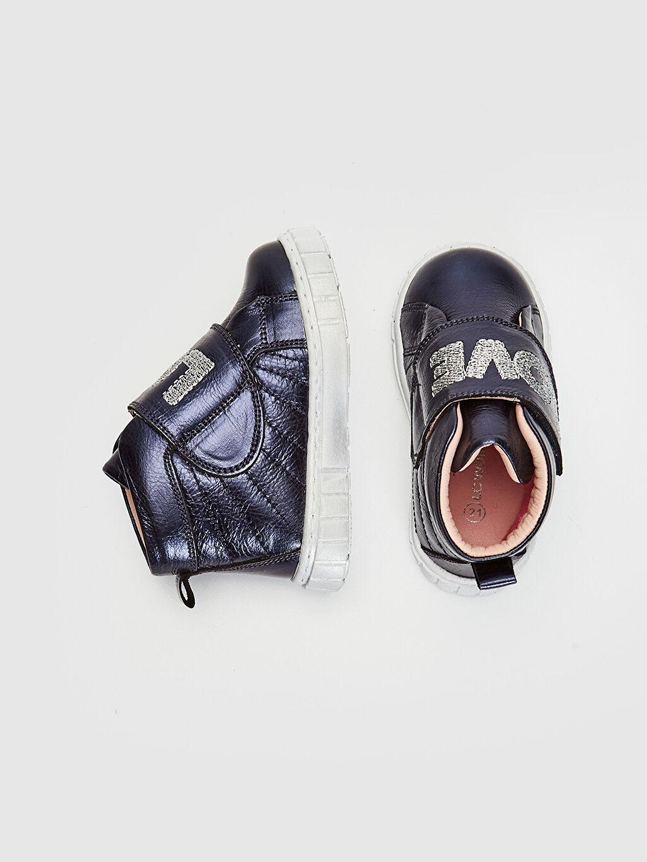 %100 Deri  Kız Bebek Cırt Cırtlı Hakiki Deri Ayakkabı