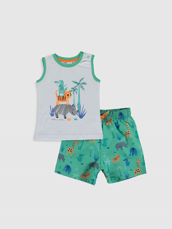 Beyaz Erkek Bebek Baskılı Yüzme Takım 0S8961Z1 LC Waikiki