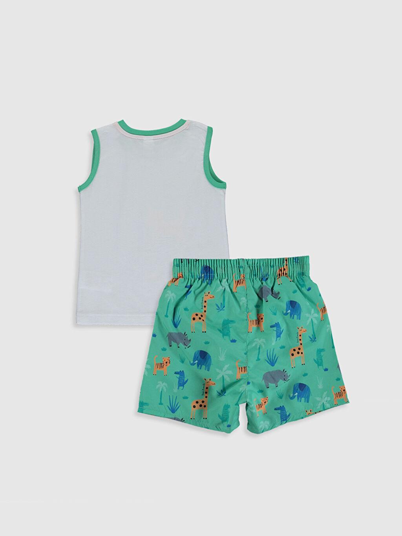 %100 Pamuk %100 Polyester %100 Polyester Standart Baskılı Boxer Takım İnce Erkek Bebek Baskılı Yüzme Takım