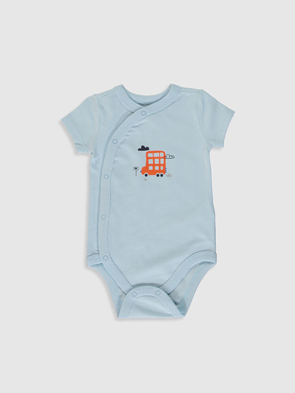 Erkek Bebek Yenidoğan Çıtçıtlı Body 2'li